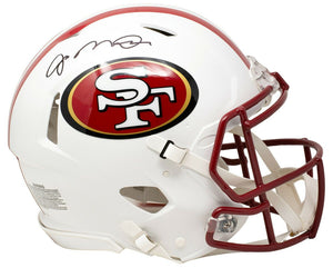 Joe Montana Signed SF 49ers FS White Speed Authentic Helmet wCase JSA - Sports Integrity