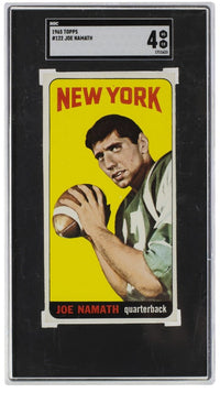 Joe Namath 1965 Topps #122 New York Jets Football Card SGC VG-EX 4 - Sports Integrity