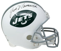 Joe Namath Signed New York Jets Full Size White Replica Helmet BAS - Sports Integrity