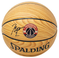 John Wall Signed Washington Wizards Spalding Wood Grain Basketball JSA - Sports Integrity