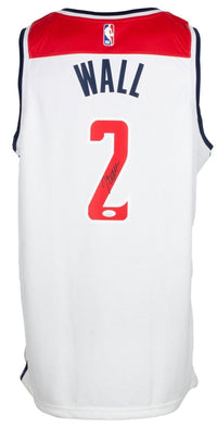 John Wall Signed White Washington Wizards Basketball Jersey JSA ITP - Sports Integrity
