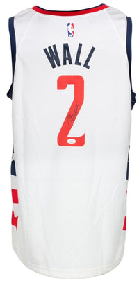 John Wall Signed White Washington Wizards DC Basketball Jersey JSA ITP - Sports Integrity