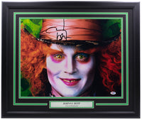 Johnny Depp Signed Framed 16x20 Alice in Wonderland Photo PSA/DNA