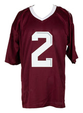 Johnny Manziel Signed Maroon Custom College Style Football Jersey JSA - Sports Integrity