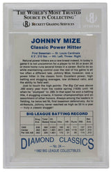Johnny Mize Signed 1982 Diamond Classics St. Louis Cardinals Card BGS - Sports Integrity