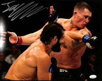 Jorge Masvidal Signed 11x14 UFC Fight Photo vs. Nate Diaz JSA ITP - Sports Integrity