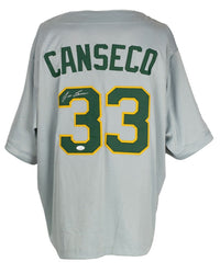 Jose Canseco Signed Custom Gray Pro Style Baseball Jersey JSA - Sports Integrity