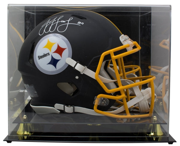 JuJu Smith-Schuster Signed Steelers FS Black Spd Auth Helmet JSA +Case - Sports Integrity
