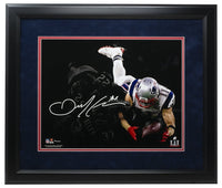 Julian Edelman Framed 11x14 New England Patriots Photo Facsimile Signature - Sports Integrity