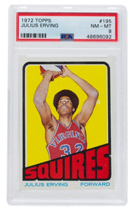 Julius Erving 1972 Topps #195 Squires Rookie Basketball Card PSA 8 - Sports Integrity