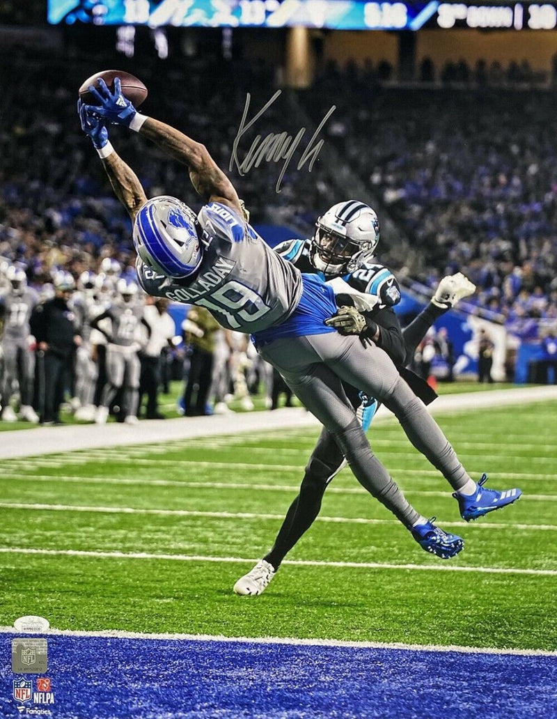 Fanatics Authentic Certified Kenny Golladay Detroit Lions Autographed 8 x 10 Jumping Catch Photograph