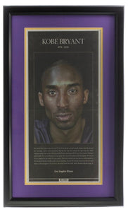 Kobe Bryant Framed L.A. Times 11x22 Tribute Page Newspaper - Sports Integrity