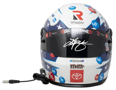 Kyle Busch Signed Full Size M&M USA Replica Nascar Helmet BAS - Sports Integrity
