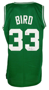Larry Bird Signed Custom Green Pro-Style Basketball Jersey BAS - Sports Integrity