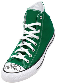 Larry Bird Signed Left Celtics Green Chuck Taylor Bird Hologram BAS - Sports Integrity