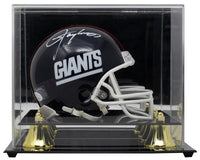 Lawrence Taylor Signed New York Giants Mini Replica Helmet w/Case JSA ITP