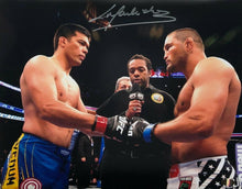 Lyoto Machida Signed UFC MMA 11x14 Photo Dan Henderson Glove Touch SI - Sports Integrity