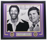 Magic Johnson & Jerry West Signed Framed 16x20 Basketball Photo JSA - Sports Integrity