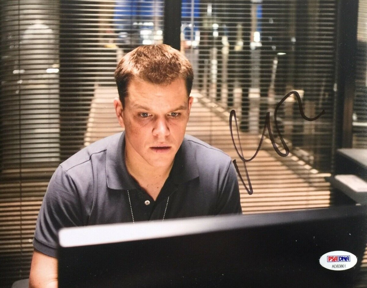Matt Damon Signed 8x10 The Departed Photo PSA AD83861 - Sports Integrity