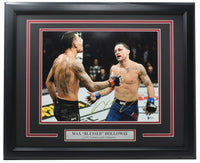 Max Blessed Holloway Signed Framed 11x14 Photo vs. Frank Edgar BAS - Sports Integrity