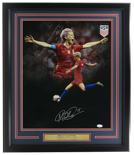 Megan Rapinoe Signed Framed 16x20 USA Women's Team Soccer Collage Photo JSA ITP - Sports Integrity