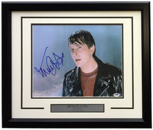 Michael J. Fox Signed Framed 11x14 Back To The Future Photo PSA U73135