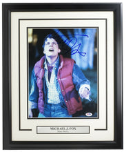 Michael J. Fox Signed Framed Back To Future 11x14 Photo PSA/DNA U73104 - Sports Integrity