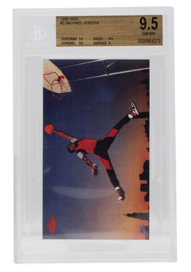 Michael Jordan 1985 Nike Promo #2 Chicago Bulls Card BGS GM 9.5 - Sports Integrity