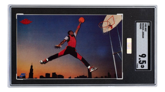 Michael Jordan 1985 Nike Promo Bulls Silver Diamond Certified Card SGC MT+ 9.5 - Sports Integrity