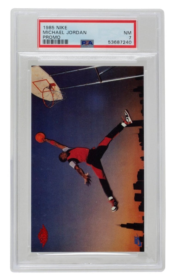 Michael Jordan 1985 Nike Promo Chicago Bulls Basketball Card PSA NM 7 - Sports Integrity