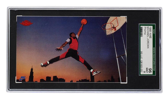Michael Jordan 1985 Nike Promo Chicago Bulls Basketball Card SGC MT 9 - Sports Integrity