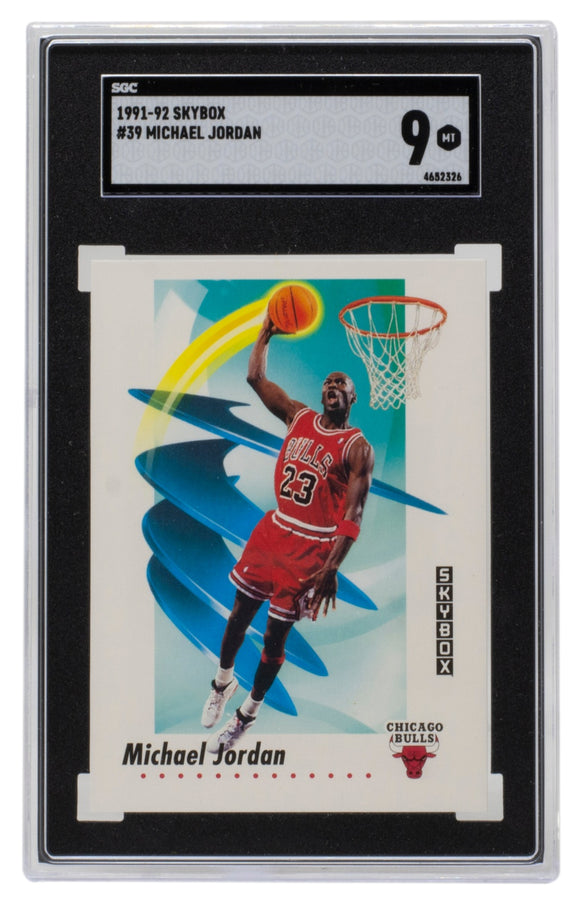 Michael Jordan 1991-92 Skybox #39 Chicago Bulls Basketball Card SGC MT 9