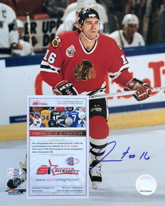 Michel Goulet Signed Chicago Blackhawks 8x10 Photo SI - Sports Integrity