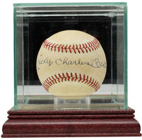 Mickey Charles Mantle Full Name Signed AL Baseball w/Case JSA Auction LOA Auto 9 - Sports Integrity