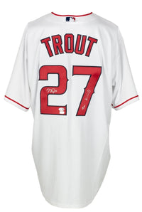 Mike Trout Signed Angels Majestic Baseball Jersey The Kid Auto 10 BAS LOA A48348 - Sports Integrity