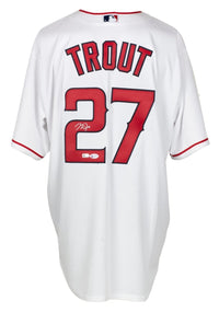 Mike Trout Signed L.A. Angels Majestic Baseball Jersey Auto 10 BAS LOA A48349 - Sports Integrity