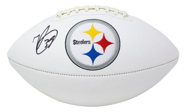Minkah Fitzpatrick Signed Steelers Full Size Logo Football BAS - Sports Integrity