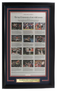 Nationals Framed 18x30 Washington Post Newspaper Top Moments - Sports Integrity