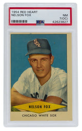 Nelson Fox Chicago White Sox 1954 Red Heart Baseball Card NM 7 OC PSA - Sports Integrity