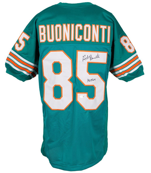 Nick Buoniconti Signed Custom Teal Pro Style Football Jersey HOF 01 BAS - Sports Integrity
