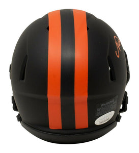 Nick Chubb Signed Cleveland Browns Mini Eclipse Speed Replica Helmet JSA ITP - Sports Integrity