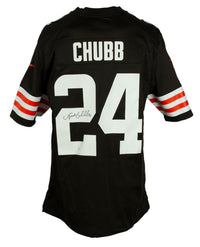 Nick Chubb Signed Cleveland Browns Nike Football Jersey JSA ITP Hologram - Sports Integrity