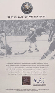 Bobby Orr Signed Framed 11x14 Boston Bruins Flying Goal Photo GNR
