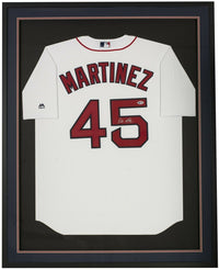 Pedro Martinez Signed Framed Boston Red Sox Majestic Jersey BAS - Sports Integrity
