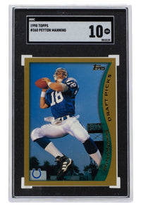 Peyton Manning 1998 Topps #360 Indianapolis Colts Football Card SGC 10 - Sports Integrity