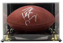 Peyton Manning Colts Signed Wilson Duke NFL Football Fanatics w/ Acrylic Case