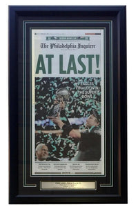 Philadelphia Eagles Framed At Last Super Bowl 52 Champions Inquirer Cover - Sports Integrity