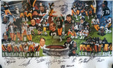 Pittsburgh Steelers (52) Signature 20x39 Dynasty Lithograph PSA P12249 - Sports Integrity