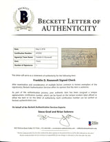 President Franklin D. Roosevelt Signed Bank Check BAS LOA - Sports Integrity