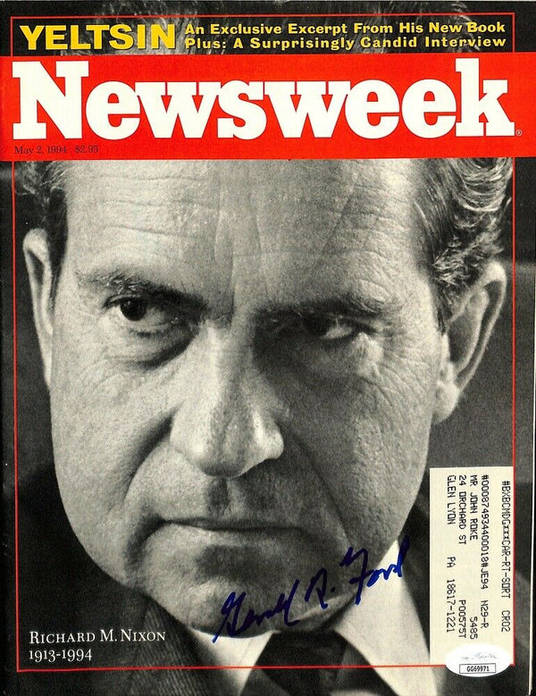 President Gerald Ford Signed Newsweek Magazine JSA - Sports Integrity